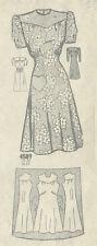 "1940s Vintage Sewing Pattern B36"" DRESS (R183)"