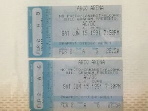 More Vintage Concert Ticket Stubs - Great Condition- Lots to Choose - Sacramento