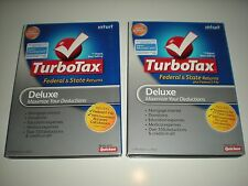 Turbotax 2009 and 2010 Deluxe. Both include state. Sealed new boxes. Genuine.