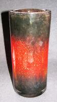 WMF Ikora Glas Vase -Zylinder- Art Deco Rot/Schwarz