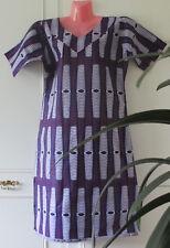 Woman's Purple White Pink African Cotton Kaftan Size 20 V Neck  Ethnic Fashion