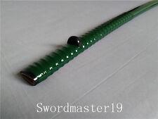 """21.2"""" Green Rattan Japanese Wakizashi Saya Buffalo Horn Kurikata Koiguchi Kojiri"""