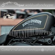 ADESIVI DECAL STICKERS FILETTI BORDATURA X SERBATOIO CUSTOM HARLEY DAVIDSON IRON