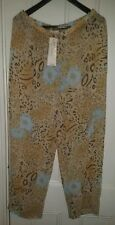 La Palapa Plus size 2X Sheer Chiffon Pants Leopard and Blue Flower Print