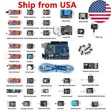 USA Stock 37 Sensors Module Kit+UNO R3 ATmega328P CH340 for Raspberry Pi Arduino