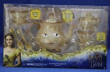 Disney Store Beauty and the Beast Deluxe Tea Set Singing Lumiere Mrs Potts Chip