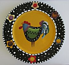 snack plate,sandwich plate,decorative plate,chicken,hand painted by me
