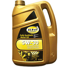 2 X Alboil SynPlus SAE 5w30 Fully Synthetic Car Engine Oil 5l GM Spec 5 Litre