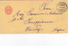 Switzerland 1898 5c PrePaid Newspaper Band Basel to Bayern Used VGC