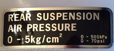 HONDA GL500 SILVER WING REAR SHOCK AIR PRESSURE CAUTION WARNING LABEL DECALS