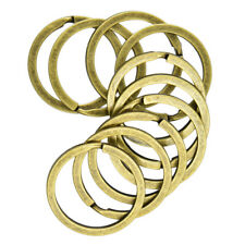 10pcs Large Bronze Double Loops Split Rings Open Jump Rings 32mm Key Ring