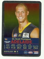 2009 AFL TEAMCOACH SILVER ADELAIDE CROWS SCOTT THOMPSON #53 CARD FOOTY FACT