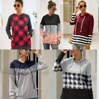 Women's Coat Sweatshirt Hoodie Tops Long Sleeve Pullover Hooded Casual Jumper