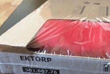IKEA EKTORP Footstool Cover IDEMO RED IKEA Slipcover Number 501.667.76 NEW FAST