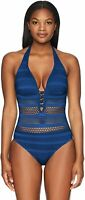 Bleu Rod Beattie Women's Sheer Thing One-Piece Swimsuit NWT