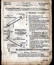 """Concessionnaire AUTOMOBILE CITROEN AMORTISSEUR SPICER NOTE TECHNIQUE N°347"""" 1938"""