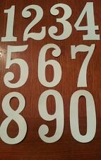 """BMX NEAL OLD SCHOOL VINTAGE 5 1/2 """" WHITE NUMBERS (3) numbers RED LINE STADIUM S"""