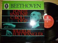 BEETHOVEN Fünfte Sinfonie C-Moll Op 67 Symphony No 5 LP NM/EX ODEON FURTWANGLER