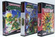 Teenage Mutant Ninja Turtles TMNT 1-3 NES Custom Cases Set - NO GAMES INCLUDED