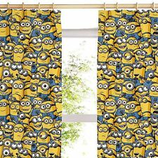 "DESPICABLE ME MINIONS 66"" x 54"" CURTAINS NEW KIDS BEDROOM"