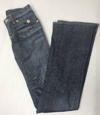 ROCK & REPUBLIC Women's Scorpion Jeans Flare Flap Pockets Sz 25 29x35