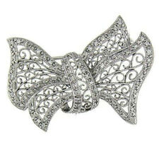 Butterfly Pin Brooch 14 Kt 0.60 Ct White Gold Diamond