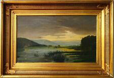 Antike Ölgemalde schönes Seelandschaft Wunderbares Werk signiert datiert 1906
