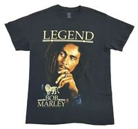 Bob Marley Legend Album Cover Tee Black Size Medium T Shirt