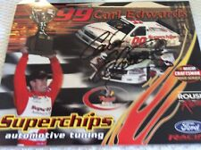 Carl Edwards superchips Hat/ signed hero card