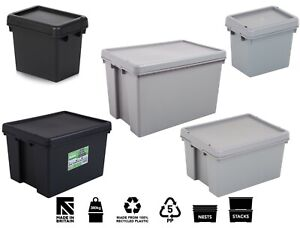 Wham Bam Heavy Duty Plastic Storage Box Boxes With Lids Recycled Plastic UK