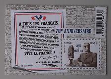 France 2010 bloc F4493 neuf luxe ** 4493 appel du 18 juin 1940 De gaulle