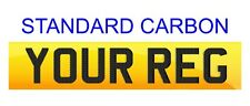 Rear Standard Number Plate STANDARD CARBON LETTERS 100% Legal. FREE POST