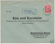 Landpoststempel, Poststelle II, Altlüdersdorf über Gransee, Gransee Land 28.3.38