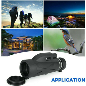 80X100 Zoom Lens Monocular Long Range Prism Hiking Telescope Phone Clip Tripod