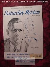 Saturday Review April 11 1959 STANLEY LOOMIS MARTIN GARDNER A. L. Todd
