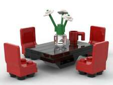 Lego Dining Room Table & Chairs Furniture Roses Vase Coffee Mug Cup Dinner Food