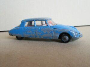 609Q Rare 1968'S Majorette 13 France Citroën DS 21 Bleu 1:65 Rail Route
