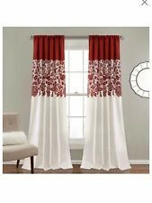 Lush Decor Estate Garden Red 84 x 52 In. Room Darkening Curtain Set -
