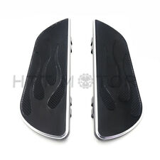 Pair Black Footpeg Foot Board Rider Driver Floorboard For Harley Touring 1984-16