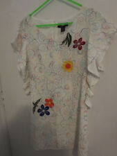 ANNA SUI, ABSOLUTELY STUNNING SILK DRESS WITH DETAIL - SIZE S