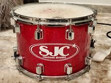 SJC Custom Marching Snare Drum Red with Trick Drums GS007