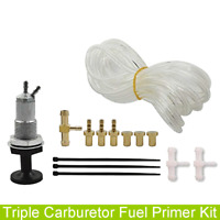 Triple Carburetor Primer Kit For Yamaha Polaris SBN Mikuni BNI 38/40/44/46 Carbs