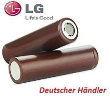 LG INR18650HG2 - 3000mAh 3,6 - 3,7V Lithium Ionen Akku flat Top 20A Entladestrom