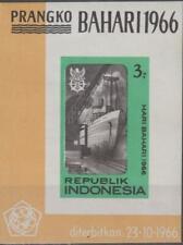 Indonesia 1966 Souvenir Sheet #694a Maritime Day - MNH