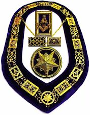 REGALIA MASONIC GRAND LODGE METAL GOLD CHAIN COLLAR PURPLE VELVET TOP Quality