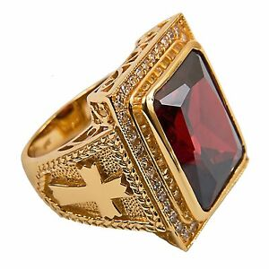 New Mens Clergy Apostle Ring (Subs710R), Gold Plated/Sterling Silver, Christian