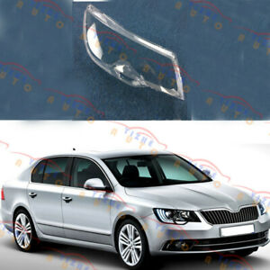 Replace Right Side Headlight Transparent Cover + Glue Fit For Skoda Superb 2014