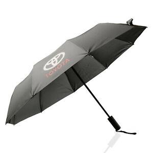 Krago Auto Open Close Folding Umbrella with Automobile Logo Toyota Grey