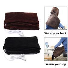 Battery Powered Heated Blanket Soft Fleece Portable Usb Power Heating Throw Hot