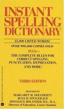 Instant Spelling Dictionary by Dougherty, Margaret M., Fitzgerald, Julia H., Bo
